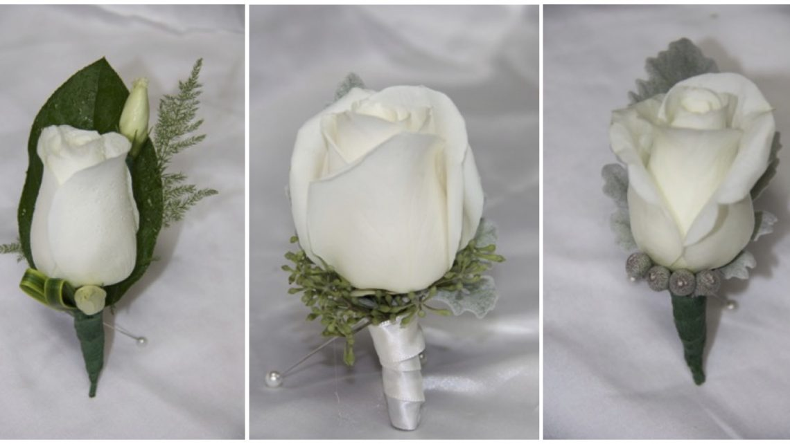 Boutonniere Roses Orchids Mini Calla Lily Wedding Florist Crosage