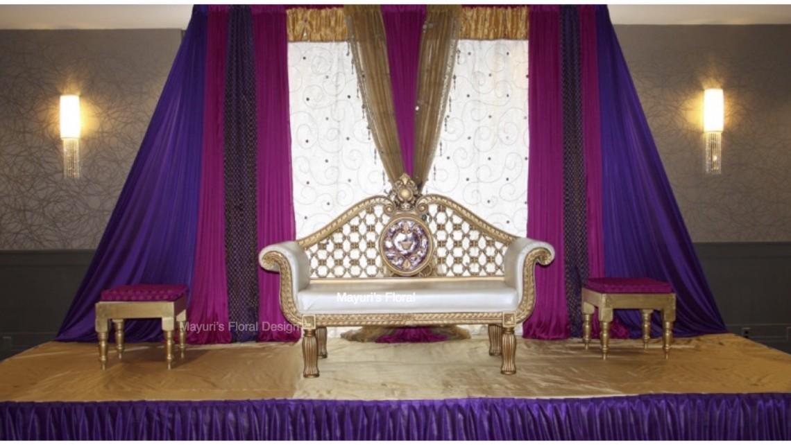 Reception Backdrop Nikkah Valima Pakistani Wedding Hilton Woodcliff Lake