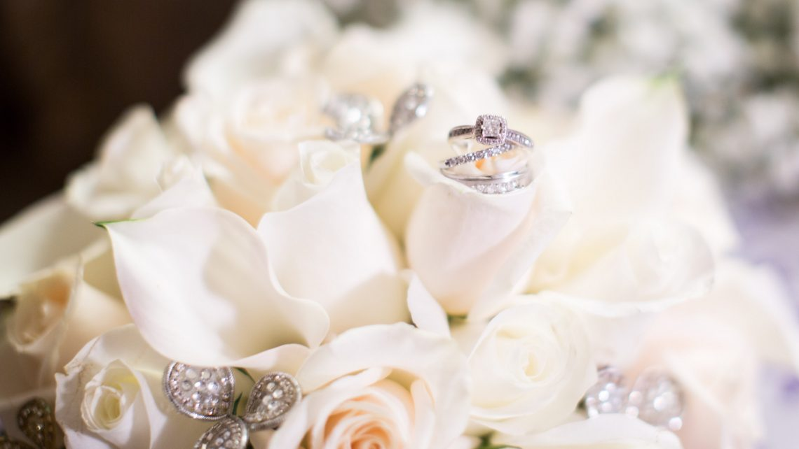 Bride Bouquet Champagne Silver Winter Wedding Nyack Florist