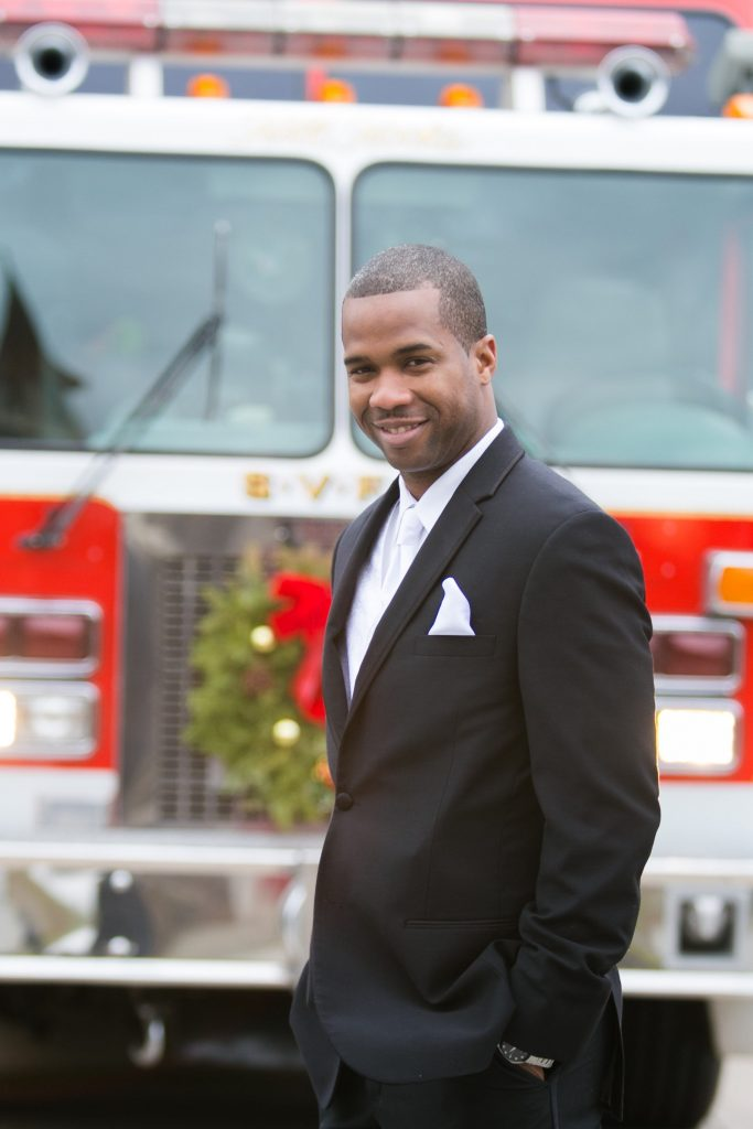 Groom Winter Wedding Fireman Rockland County Florist Planning Event Decor