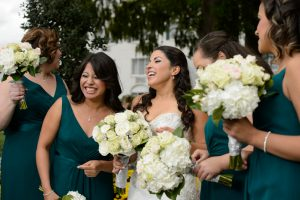 Bridal Party in emerald green
